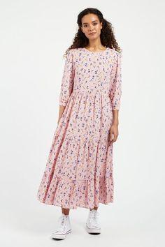 ROMANY-HIDCOAT-DRESS-PINK_1 Joy The Store, Fashion Outfits, Womens Fashion, Pink Dress, Retro Vintage, Chiffon, Shirt Dress, My Style, Casual