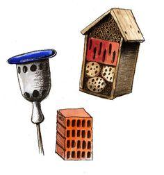 Voor meer insecten in de tuin #ECOstyle #illustratie #tekening #insectenhotel #biodiversiteit Houses, Bird, Outdoor Decor, Home Decor, Homes, Decoration Home, Room Decor, Birds, Home Interior Design
