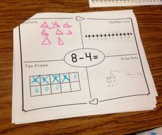 Subtraction Strategies Book - Thinkboard