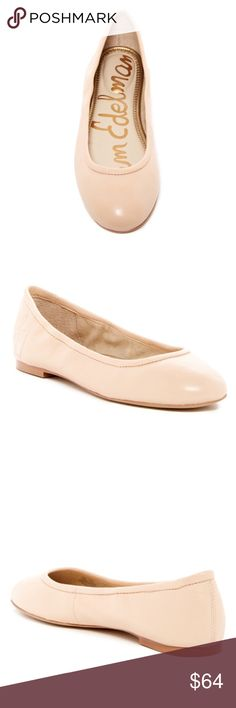 NWT Sam Edelman Basic Nude Flats 7 7.5 8 8.5 Price is firm.  New in box. Gorgeous classic nude flats.  Sizes 7, 7.5, 8, 8.5 available.  Side logo embroidered at heel- so cute!  True to size. All leather with man made sole.  More pics coming soon.  No trades. Sam Edelman Shoes Flats & Loafers