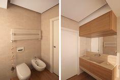 Architettura d'interni a milano. Interior design sartoriale, gli arredi cuciti su misura sulle pareti. Complementi e bagni realizzati su disegno.