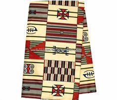 Beige Kente fabric/ African fabric/ Kente Cloth/ Kente Prints/ Wax print/  6 yards,  KF218