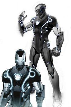 futuristic iron man