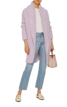 I Love Mr. Mittens' cozy cardigan is knitted from warm wool and designed with an open front that's perfect for layering. Wear yours over a T-shirt and jeans.