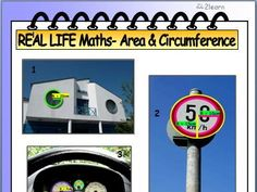 Bright colourful Math WORKSHEET incorporating real life photographs to measure AREA & CIRCUMFERENCE of CIRCLES. This format has proven very effective at encouraging students to make connections, stimulate and interest them to work collaboratively or indiv Real Life Math, Maths Area, Geometry Worksheets, Secondary Math, Teaching Methods, Math Lessons, Mathematics, Teaching Resources, Circles