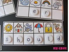 Kids figure out the beginning sound of each picture to spell a hidden sight word! Kids figure out the beginning sound of each picture to spell a hidden sight word! Teaching Sight Words, Sight Word Practice, Sight Word Games, Sight Word Activities, Literacy Activities, Kindergarten Centers, Kindergarten Reading, Teaching Reading, Reading Centers