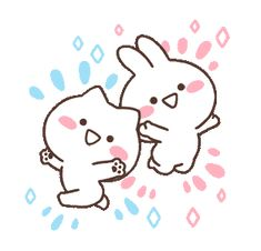 Cute Cartoon Images, Cute Images, Neko, Icon Gif, Cute Messages, Gifs, Line Sticker, Cute Gif, Cute Characters