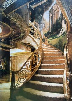 The stairway in Donald and Melanie Trumps Penthouse Apartment in New York City, NY.