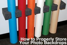 Backdrop Express Photography Blog Ways to Store your Photography Backdrops | Photographic Backdrop Blog