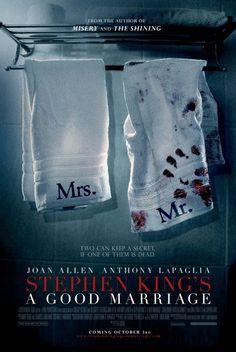 Stephen King's A Good Marriage-Directed by Peter Askin. With Kristen Connolly, Joan Allen, Stephen Lang, Anthony LaPaglia. After 25 years of a good marriage, what will Darcy do once she discovers her husband's sinister secret? Stephen King It, Stephen Lang, Films Stephen King, Scary Movies, Hd Movies, Horror Movies, Suspense Movies, Movies Online, 2020 Movies