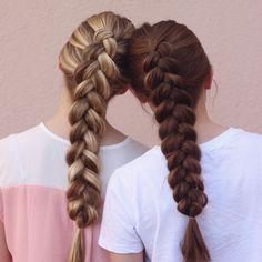 "Taylee's Hairstyles on Instagram: ""Simplicity is beauty. Don't you think? Dutch braids on myself and @hannah_hairstyles  #cghphotofeature"""