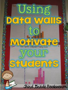 Bright Idea: Using Data Walls to Motivate Your Students-keeping track of not only individual student data but also class data. Love Creative Teaching Press's Dots on Turquoise border in her class! Student Data Tracking, Student Goals, Student Data Walls, Student Data Folders, School Data Walls, 3rd Grade Classroom, School Classroom, Classroom Data Wall, Classroom Ideas