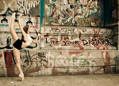 "Bryn Michaels in Bowery, New York City - brynballet - Photo by Luis Pons - ""Passing through on our way to work or coming home."" 
