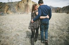 Love this dress. Oregon Rock Climbing Engagement Shoot via Engaged & Inspired