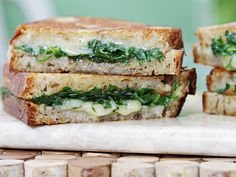 Garlic Confit and Baby Arugula Grilled Cheese