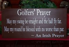 A Golfer's Prayer Wood Sign Golfer's Sports by SnickerdoodleSigns, $50.00