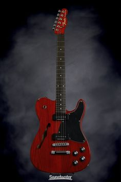 Fender Jim Adkins JA-90 Telecaster Thinline (Crimson Transparent) Very cool setup and the color is Niiiice !!