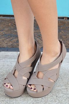 Follow Through Wedges: Taupe