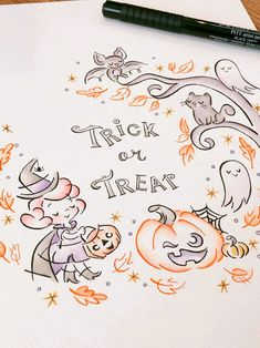 Halloween decor Trick or treat art print cute witch wall   Etsy Watercolor And Ink, Watercolor Paintings, Painting Prints, Art Prints, Cute Halloween, Handmade Christmas, Trick Or Treat, Fine Art Paper, Decorating Tips