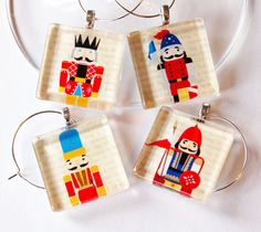 Christmas Nutcracker Wine Charms. $15.00, via Etsy.