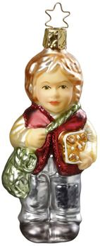 Hansel's Treats - from Inge Glas of Germany. Mouth-blown, hand-painted Christmas Ornament. Available at www.mygrowingtraditions.com