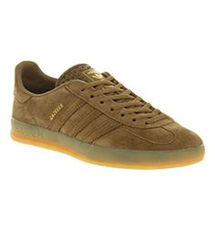 Adidas GAZELLE INDOOR EARTH KHAKI GREEN Shoes - Adidas Trainers - Office Shoes