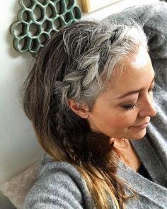 Lassen graue haare strähnchen rauswachsen Graue Haare