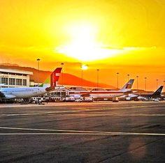 Atardecer en el Aeropuerto de Maiquetía Venezuela