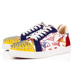 4a8fc0f6b3d Vieira Spikes Orlato Calf Wallgraf Version multi Calfskin - Women Shoes - Christian  Louboutin
