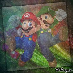 Mario & Luigi together Blingee by Laura C Mario Fan Art, Mario And Luigi, Super Mario Bros, Thunder, Cartoon Characters, Art Pieces, Animation, Inspired, Random