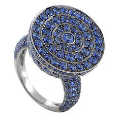 Shop for Poison Women's White Gold Sapphire Pave Secret Ring. Get free delivery On EVERYTHING* Overstock - Your Online Jewelry Destination! Poison Ring, White Gold Wedding Rings, Green Gemstones, Wedding Ring Bands, Unique Rings, Statement Rings, Bracelet Watch, Blue Green, Sapphire