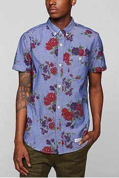 CPO Chambray floral Botón-Camisa