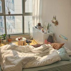 Home Decoration Living Room .Home Decoration Living Room Korean Bedroom Ideas, Room Ideas Bedroom, Bedroom Decor, Apartment Interior, Bedroom Apartment, Dream Rooms, Dream Bedroom, Aesthetic Room Decor, Cozy Room