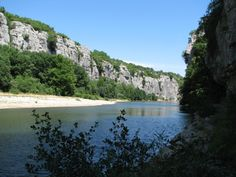 The Chassezac River in the Ardeche-region, in the south of France
