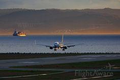 SKY Boeing 737-800 landing at Kobe airport