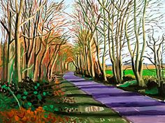 Woldgate, Crisp Morning , January 2006 by David Hockney, oil on canvas cm David Hockney Landscapes, David Hockney Art, David Hockney Paintings, Banksy, Landscape Art, Landscape Paintings, Pop Art Movement, Arte Pop, Look At You