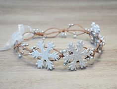 Snowflake Crown Christmas holiday hair accessory Christmas crown Silver Woodland Winter Headband Snow crown snowflake newborn photo prop by PrettyNatali on Etsy