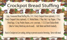 Easy Recipe if you are looking for Homemade stuffing done easy...add whatever else you would like to it. Printable.