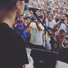 Special show in the affected areas #pray4philippines. you've changed my life thank you