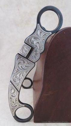 New Handmade GENE KLEIN Sterling Silver Mounted Curb Bit for Sale - For more information click on the image or see ad # 31852 on www.RanchWorldAds.com