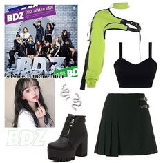 Boujee Outfits, Scene Outfits, Kpop Fashion Outfits, Girls Fashion Clothes, Cute Casual Outfits, Polyvore Outfits, Look Fashion, Korean Fashion, Korean Outfits Kpop