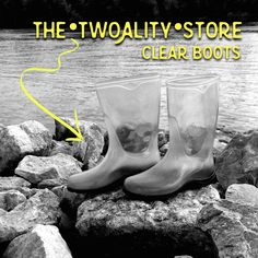 Change up our #ClearBoots by adding any color/pattern that you could imagine! Solid colored and patterned liners available at www.thetwoalitystore.com!!  #Shoes #Boots #Fall #Autumn #Style #ExpressYourself #TwoAlity