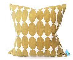 Mustard Yellow Pillow Yellow Pillow Cover Scandinavian