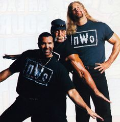 A year after the conclusion of the Monday Night War, the nWo invaded WWE as Hollywood Hulk Hogan, Scott Hall and Kevin Nash returned home to WWE. Bruce and Conrad take you behind what really happened during the New World Order's 2002 return. Nwo Wrestling, Wrestling Stars, Wrestling Superstars, Scott Hall, Kevin Nash, Wwe Wallpapers, Hulk Hogan, Combat Sport, New World Order