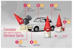 Mundo Segurnauta: consejos para viajar en coche en Semana Santa #MecanicaParaNovatos #Mecanica #Infografia #SeguroDeCoche #Seguros #SeguroDeAutomovil #Segurauto #Segurnautas