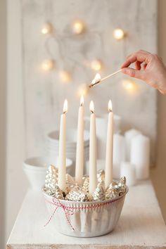 Handicraft work: DIY Advent wreath #Weihnachten #Dekoration
