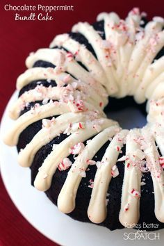 Chocolate Peppermint Bundt Cake