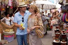 Romance movies for grownups:     Eat Pray Love ﴾2010﴿:   An American romantic comedy‐drama starring Julia Roberts, based on Gilbert's best‐selling memoir of the same name. Ryan Murphy co‐ wrote and directed the film, which tells the story of a divorcée ﴾Julia Roberts﴿ who travels to Italy, India and Bali.