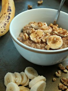 banana bread oatmeal walnuts quick cozy banana nut oats