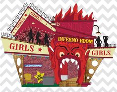 BEETLEJUICE Dantes Inferno Room Girls by ArtNoParticularOrder